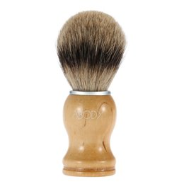 Abody Men's Blaireau Escova de barbear BrushHair para barba Escova de limpeza facial com Beech Handle para Razor Face limpeza ferramenta W2665