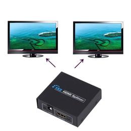 Nuevo 1080P 2 puertos HDMI Splitter 1.4 HDMI Splitter 3D UE Plug 1 x 2 HDMI Splitter 5V Fuente de alimentación 1 en 2 Out Switcher para HDTV