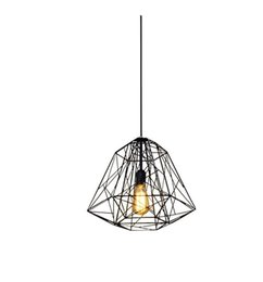 2017 industrial cage pendant lights nordic diamond vintage loft pendant lamp iron cage industrial pendant light cage pendant lighting