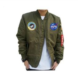 Wholesale Nueva llegada de los hombres calientes de las ventas de la marca de estilo militar chaqueta de bombardero del ejército ropa de abrigo ropa de primavera de béisbol al aire libre militar de hip hop