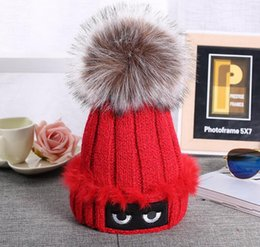 Discount wholesale knitted cashmere hat Women 's autumn and winter wool knitted wool hat women' s fashion leisure cap plus cashmere warm hat HJIA1042