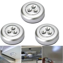 Mini Round 3 LED éclairage intérieur 3 * AAA alimenté par batterie ampoule lampe Light Touch Lamp Cabinet Nuit sans fil