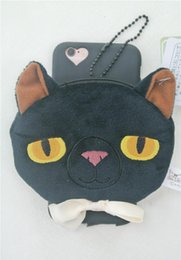 Wholesale 2016 New Plush Doll iPhone6S Phone Case Cartoon Doll Briquettes Cat Wallet Phone Shell Korea New Black Plush Protective Cover