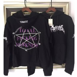 Wholesale 2016 FW KANYE WEST oversized hoodies US Street HipHop vetements Fucking Darkness hooded sweatshirt yeezus off white palace god