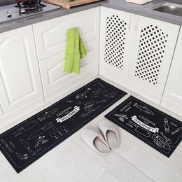 1Set 2PCS Polyester Long Kitchen Mat Set Anti Slip Living Room Rugs  Corridor Area