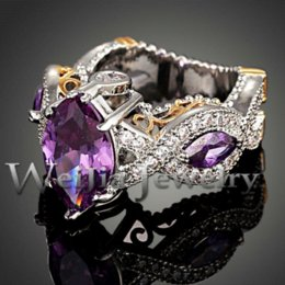 spring 2014 new fashion 18k platinum plated luxury purple crystal design cubic zirconia wedding rings for women j01927 - Purple Wedding Rings