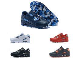 2016 shoes run air max Fashion Original brand logo Top quality max 90 QS Men air cushion running Full leather Casual Shoes Eur:40-46 Free shipping cheap shoes run air max