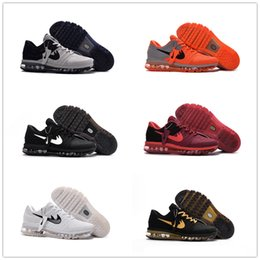 Discount Shoes Run Air Max 2017 Max New Style KPU Cushion Running Shoes For Men maxes sneaker High Quality Air Cushion Surface Breathable Max Shoes Eur 40-47