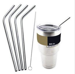 Aço inoxidável 30 oz / 20 oz YETI copos Refrigerador Rambler Tumbler caneca de cerveja Cup Veículo Double Wall bicamada isolados a vácuo 4pcs Straw