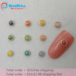 Wholesale Min order Japan Fashion mm Mix Color Alloy Nail Art Glitter Rhinestone Ceramic Studs Decoration Tool DIY082