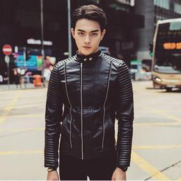 Discount Men Leather Jacket Diagonal Zipper | 2017 Men Leather ...