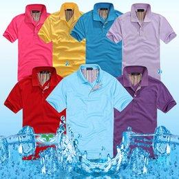 Wholesale Poloshirts Men Stylish Short sleeve Casual POLO Shirt T shirts Tee Tops S M L XL XXL Can Print customer Logo