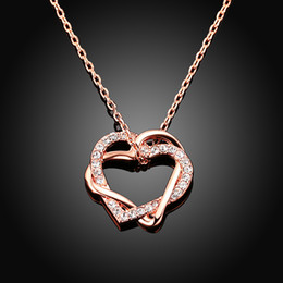Discount love jewelry Fashion jewelry women pendant Silver Necklaces & Pendants woman Green rose gold heart shaped Christmas gifts wholesale NK-01