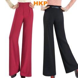 Wholesale 2016 spring women casual high waist wide leg pants Ladies Elegant office work wear trousers OL hip hop disco Palazzo pants