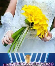 alta calidad DES floral de la flor artificial decorativa color blanco Mini cala Bundle para la decoración myy