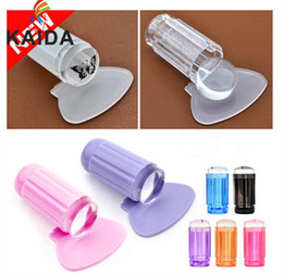 Wholesale New Finger Angel New cm Clear Jelly Nail Art Stamping Stamper Scraper Kit DIY Polish Print Template Manicure Tools