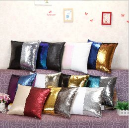2016 mermaids home decor sequin pillow case sequin pillowslip 2 tone color pillow case reversible cushion