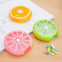 online shopping New Weekly Rotating Pillbox Travel Pill Case Pill Organizer Medicine Box Pill Container