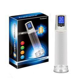 Wholesale Liquid Crystal Powerful Usb Rechargeable Automatic Penis Enlarger Pump LED Penis Enlargement Men Enhancer Sex Toys For Men