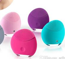 Wholesale Foreo Luna Mini Silicone Facial Cleansing Brush Waterproof T Sonic Electric Facial Brush With Soft Touch Silicone Luna Mini
