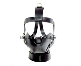 Wholesale BDSM Restraints Bondage Gear Head Harness Mouth Mask Ball Gag Adult Sex Products for Women