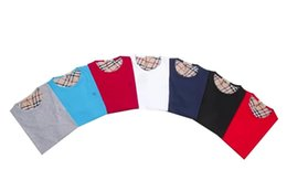 Wholesale 2016 hot slim men s casual T shirt shirt collar Cotton Short Sleeved Shirt Mens Shirt Mens Size M XXL