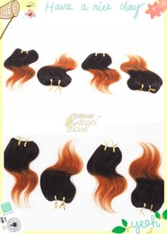 2017 ombre human hair wave Two Color Ombre Cheap Price Best Selling Body Wave Angelwave 200g lot 10inch 8pcs lo Human Hair Extension Brazilian Human Hair Free Shipping ombre human hair wave for sale