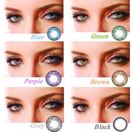 Wholesale 2016 New Style Popcorn colorful eye contact lenses colors in stock DIA mm Yearly use cosmetic contatcs Freeshipping