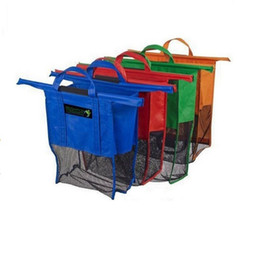 Wholesale New Large Size in1 Shopping Grocery Bag For Supermarket Trolleys Carrier Bag Shopping Bag Reusable Trolleys Folding Shopping Bag A0135