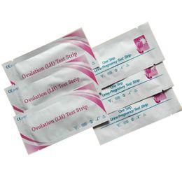 2016 Hot Sale original usine Strips 300pcs médicaux / LOT Test de grossesse + 200pcs / LOT Ovulation bandelettes de test Livraison gratuite