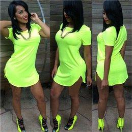 Wholesale Clothing tshirt woman Night Club Party Dress Summer Style Women T shirt Dress Bandage Bodycon Beach Jumper Dress Long Tops Tees