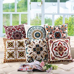 cushions home decor limited 6 pieces polyester cotton square 2016 new in set of 6 chinese wind wool embroidered pillow south east asian