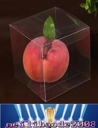 NEW 4x4x4 CM ПВХ Очистить пакет коробки Пластиковые контейнеры площади ювелирных изделий Подарочная коробка конфеты Полотенце торт коробки освобождает перевозку груза MYY
