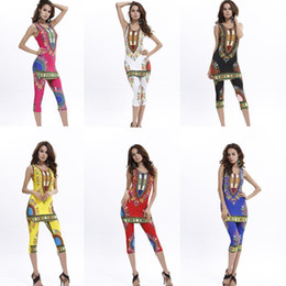 Summer Plus Size Ropa para Mujer Camisas para Mujeres Tops Mujeres Blusas Mujeres Más Tamaño Tailandia India y Nepal Impresión Chaleco Pantalones Traje