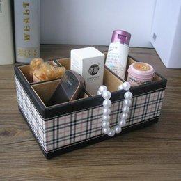 2017 black wood office desk 4 slot home office wood leather desk sundries cosmetics makeup black wood office desk 4