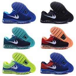 Discount Shoes Run Air Max Drop Shipping Cheap Famous Air 2017 Fly knit Mens Sports Running Max Athletic Sneakers Shoes Size 40-45