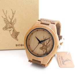 engraved watches for men online engraved watches for men for whole engraved elk head natural bamboo wooden wristwatch genuine cowhide leather band wood watches for men and women
