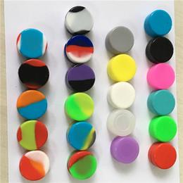 Antiadhésif silicone Wax 3ml Container 5ml 7ml conteneurs Silicon cire pots dab Jars d'huile de stockage de l'outil Concentré Case pour vaporisateur vape