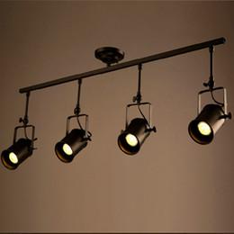 2017 vintage industrial track lighting retro loft vintage led track light industrial ceiling lamp bar clothing ceiling track lighting systems