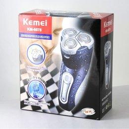 Wholesale Authentique Trois têtes Shaver Sindependent Capteur système flottant rasoir électrique Rechargeable Systemic Waterproof Barber pour les hommes