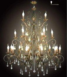 ac100 240v 105107cm 21pcs e14 candle wrought iron chandelier light crystal chandelier fixtures pendant lamps lustre decorative candle decorative modern pendant lamp