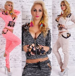 Wholesale New Casual Women s Tracksuits Leopard Print Hoodies Sweatshirt Pant Sport Suit Harajuku Hooded Sports Clothes for Women
