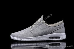 Discount Shoes Run Air Max Janoski max Mens 2016 new Running Shoes Dark green Cheap design air mesh mens womens sb stefan janoski max Shoe size 36-45 Free Shipping