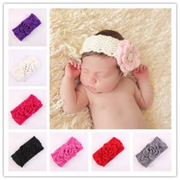 Wholesale Newborn Turban Ears Winter Warm Headbands Crochet Knitted Hairbands For Baby Girl Hair Accessories