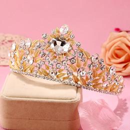 تيجان ملكية  امبراطورية فاخرة 2016-brand-new-baroque-style-gold-leaf-crystal