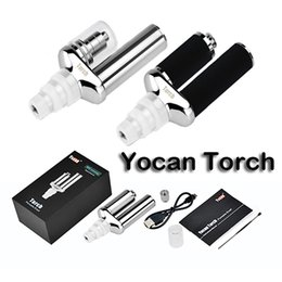 Wholesale Authentic Yocan Torch Vaporisateur Kit E Cigarette Kit Wax Vaporisateur Avec Quartz double Coil Portable E Cigarettes Noir Argent Fasion E Cigs