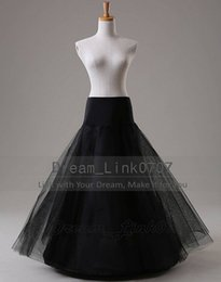 Wholesale Cheap Long Tulle Wedding Petticoat Black A Line Underskirt enaguas novia anagua de vestido de noiva crinoline jupon mariage