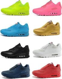 2016 Shoes Run Air Max MAX 90 hyperfuse prm air american flag for men and women running shoes sneakers air cushion hyps qs white black max size:40-45