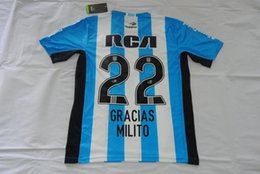 Wholesale argentina racing MILITO special model jerseys