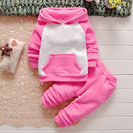 Wholesale 2016 new Retail New children cool hooded coat pants for girls and boys clothing set clothes baby set baby clothing